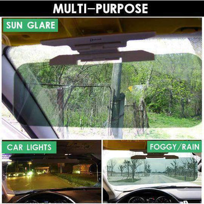 HD Car Sun Visor For Driver Day Night Anti-dazzle
