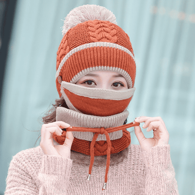 3-in-1 Winter Beanie Scarf Set【Winter 🔥Hot Sale】