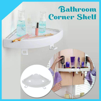 Bathroom No-Drill Corner Storage Shelf