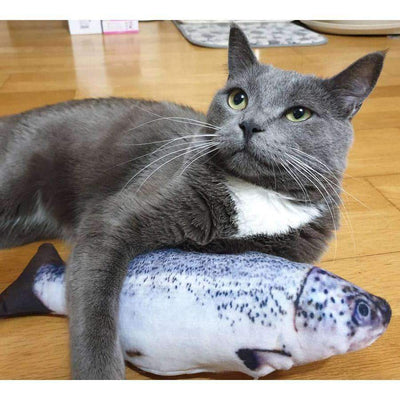 Realistic Looking Fish Kicker Cat Toy