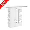 On-Wall Swivel Surge Protector with 6 AC Outlets and 2 USB Ports
