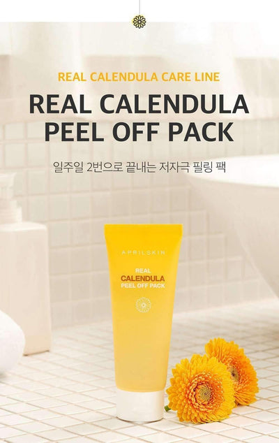Natural Calendula Peel Off Mask - New Korean Formula
