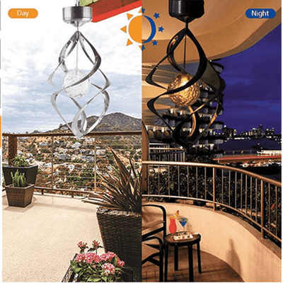 Solar LED Colour Changing Waterproof Spiral Spinner Lamp