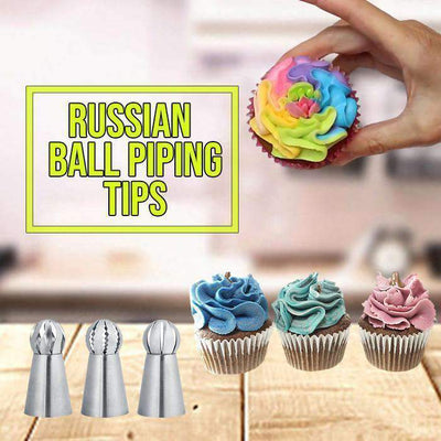 3-Piece Russian Piping Tip Set