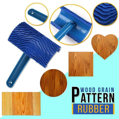 Wood Grain Pattern Paint Roller