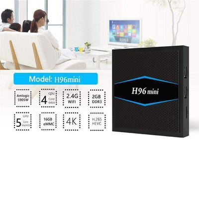 H96 Mini S905w Android TV Box 4K H.265 Smart TV support BT 4.0 and Doule WIFI