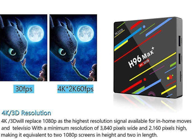 H96MAX+ 4+64G Android 8.1 Quad Core 4K Smart TV BOX WIFI RK3328 Media Player NEW