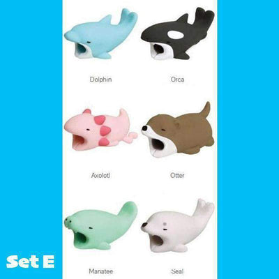 Cartoon Animal Cable Protective Cover (6 Pieces Set)