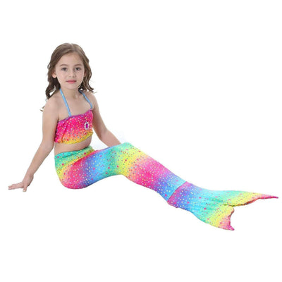 Kids Mermaid Swimsuit and Tail Set