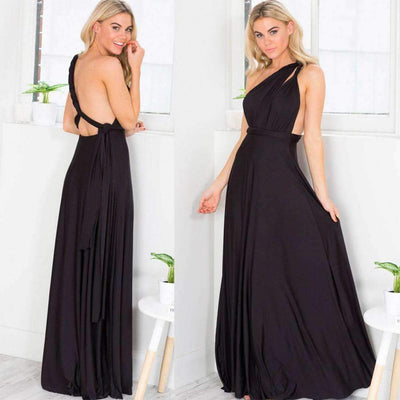 Multi-Way Wrap Long Dress