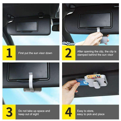 Sun Visor Glass & Card Holder