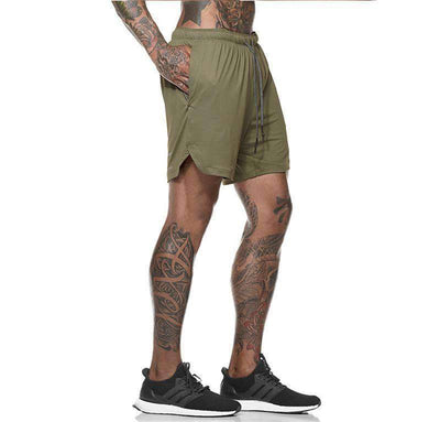 Men's 2-in-1 Layered Pocket Running Shorts