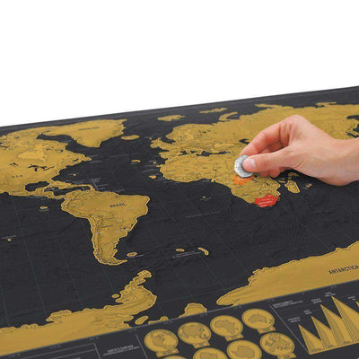 TRAVAMASTER Deluxe Scratch Off World Map