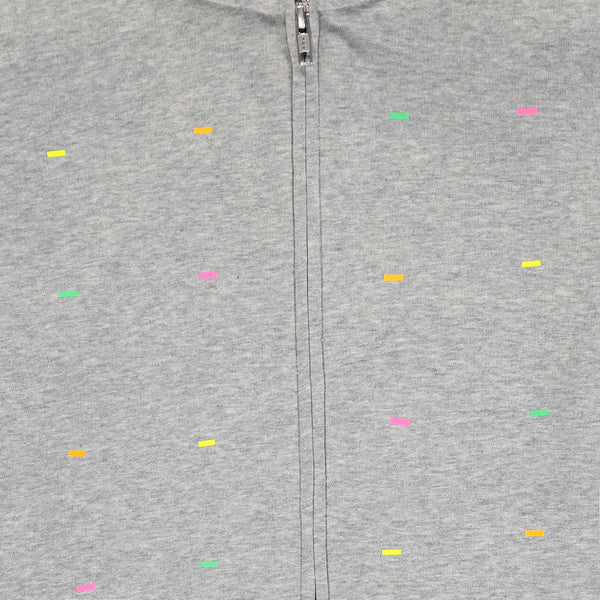 Fluoro Heather Gray Zip Hoodie
