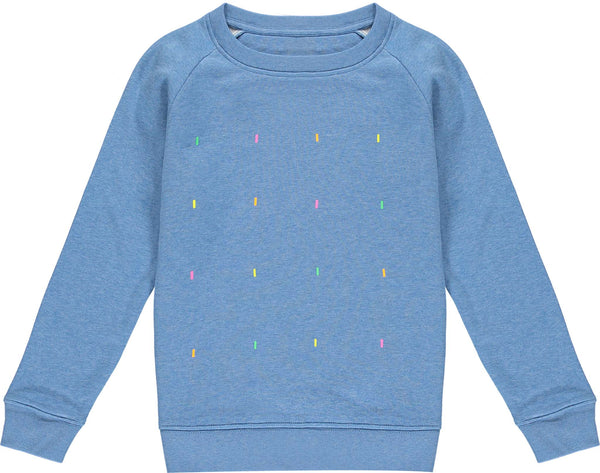 Kids Fluoro Heather Blue