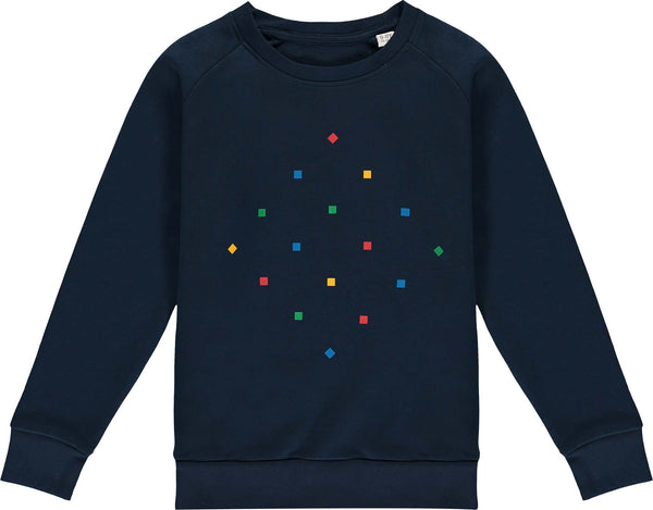 Kids Particles Navy Sweatshirt