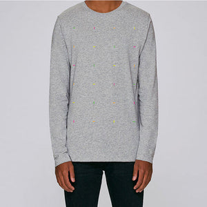 Blocks Long Sleeved Heather Gray T-Shirt