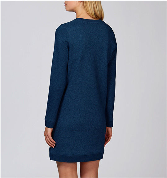 Rubiks Black Heather Blue Crew Neck Dress