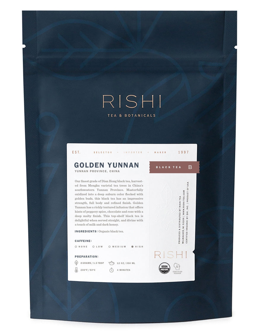 Rishi Organic Golden Yunnan Loose Leaf Tea