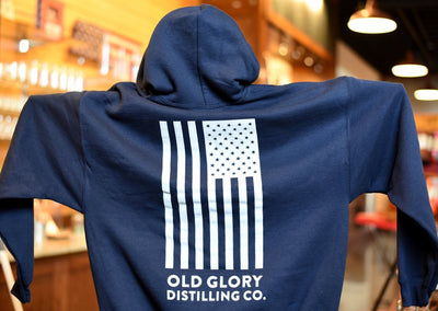 Old Glory Navy Hooded Sweatshirt