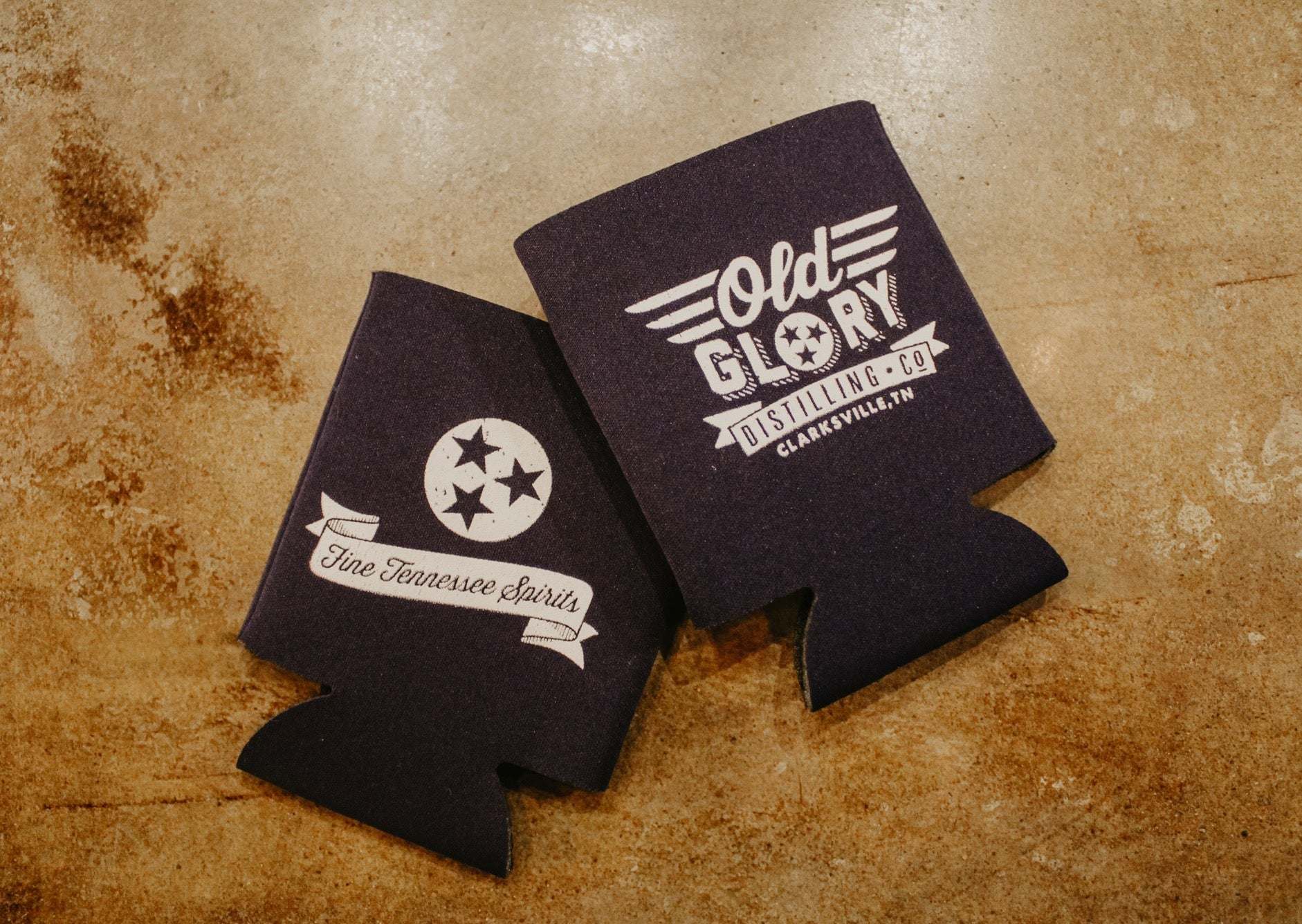 Navy Old Glory Koozie