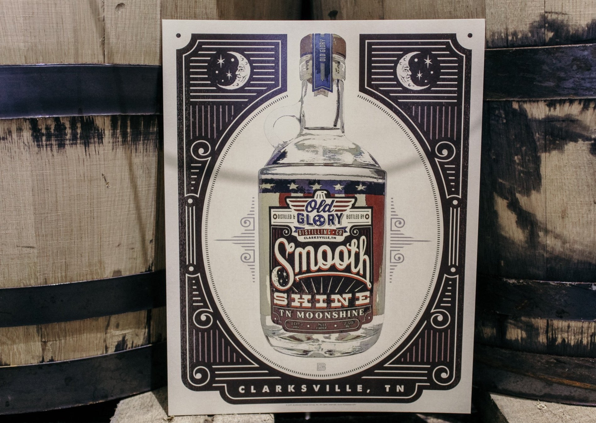 Old Glory Smooth Shine Poster
