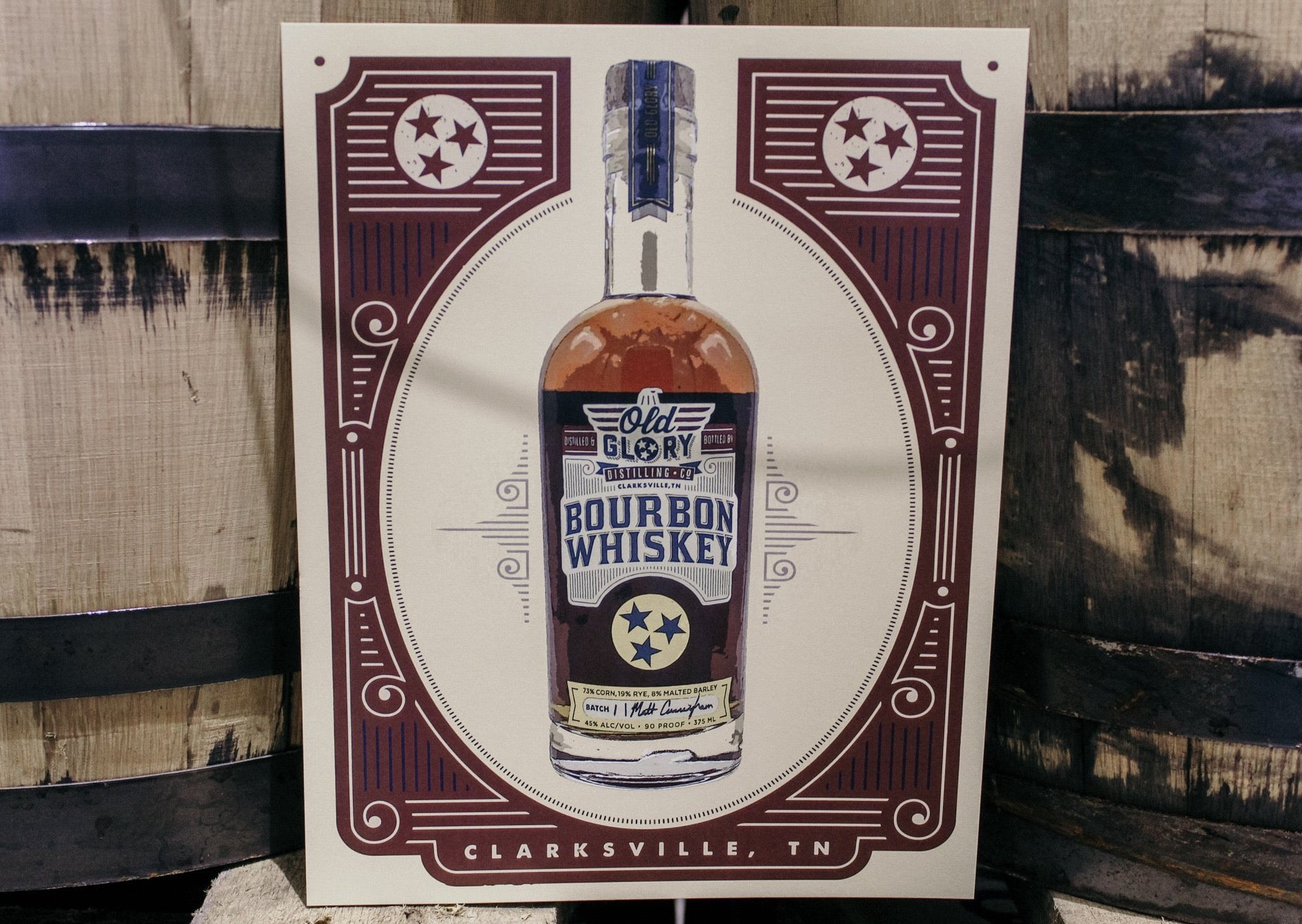 Old Glory Bourbon Poster