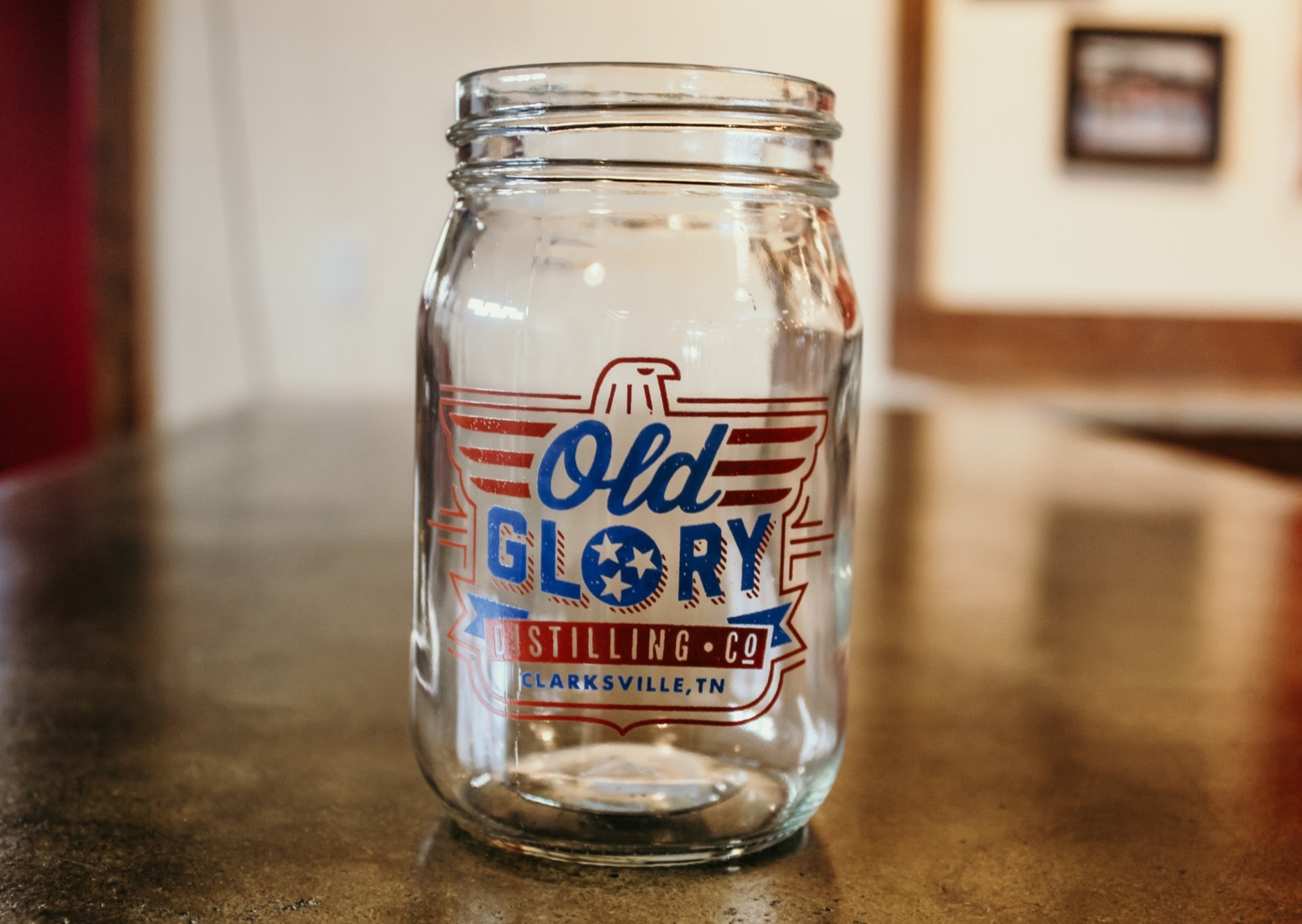 Old Glory Distilling Co. Mason Jar