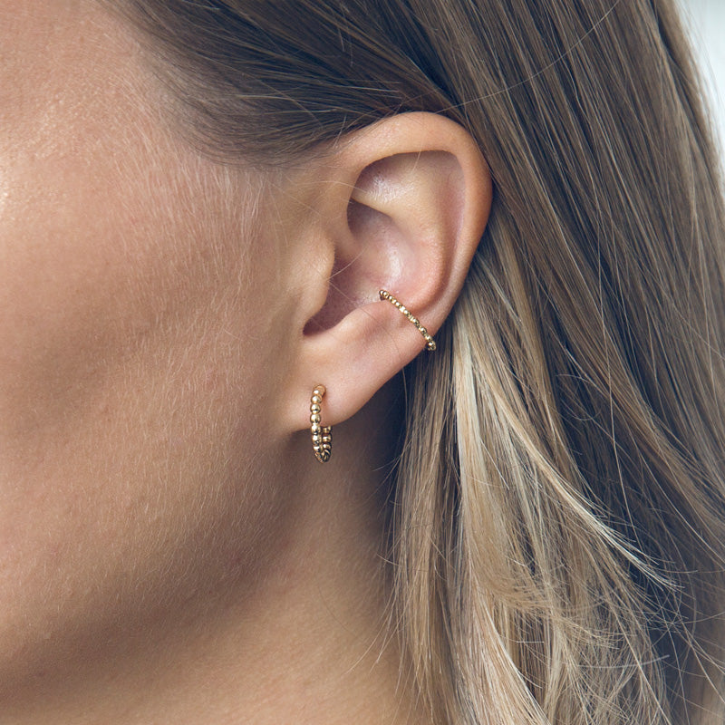 Bubble Ohrringe und Ear cuff Gold