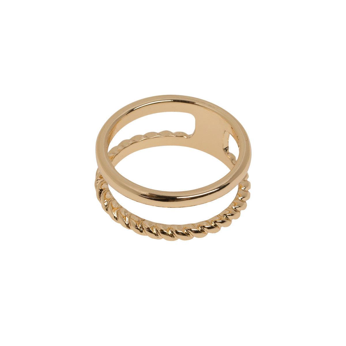 Double Lined Ring Gold