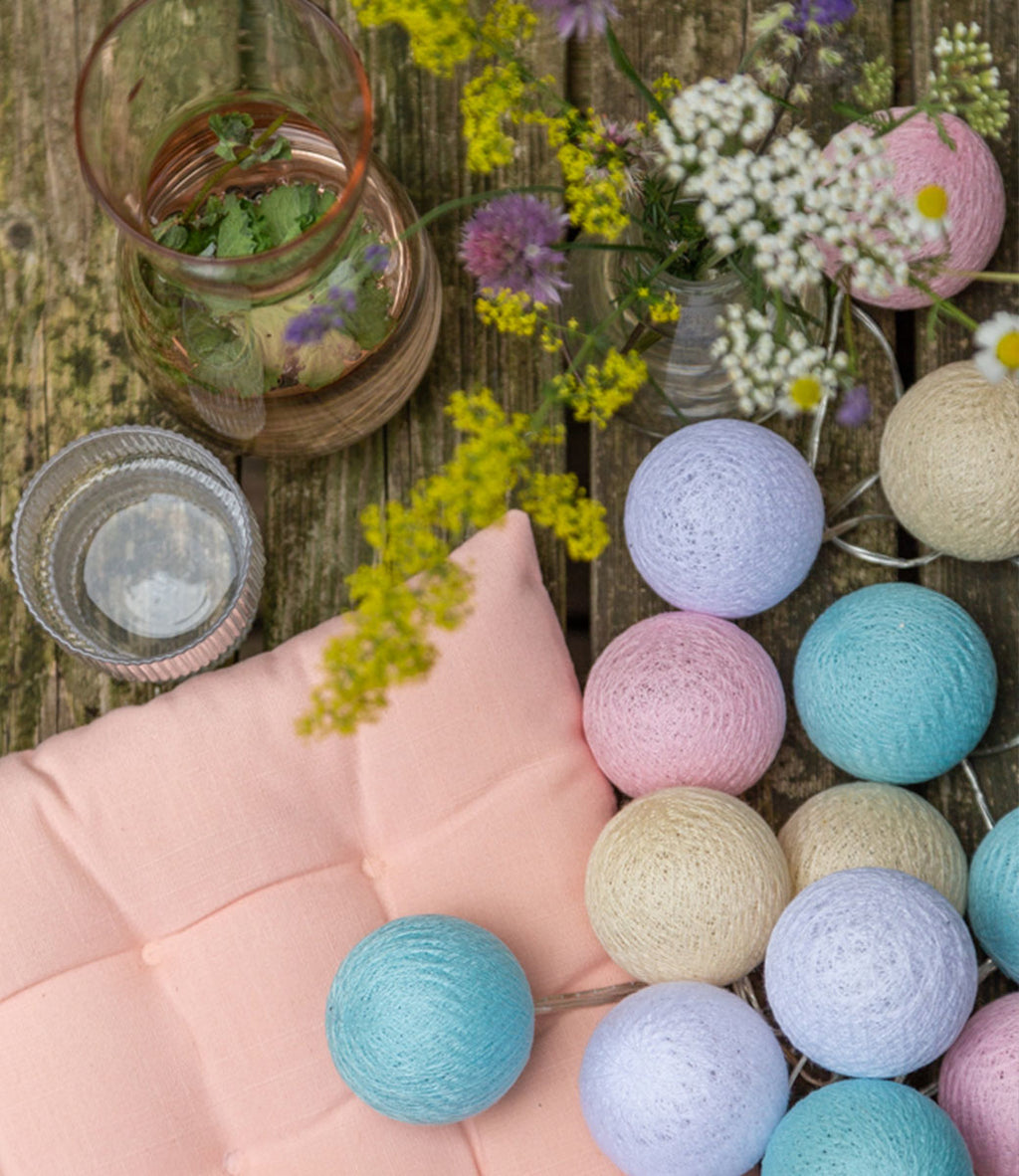 Lichterkette BALL Outdoor PASTELL