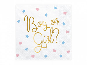 Gender Reveal SERVIETTEN GIRL or BOY