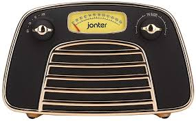JONTER RETRO RADIO BLACK