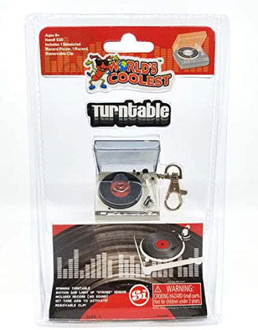 WORLD'S SMALLEST TURNTABLE KEYCHAIN