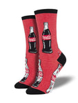 WOMEN'S COKE SOCKS BOTTLE