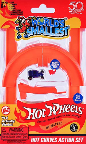 WORLD'S SMALLEST HOT WHEELS HOT CURVES ACTION SET