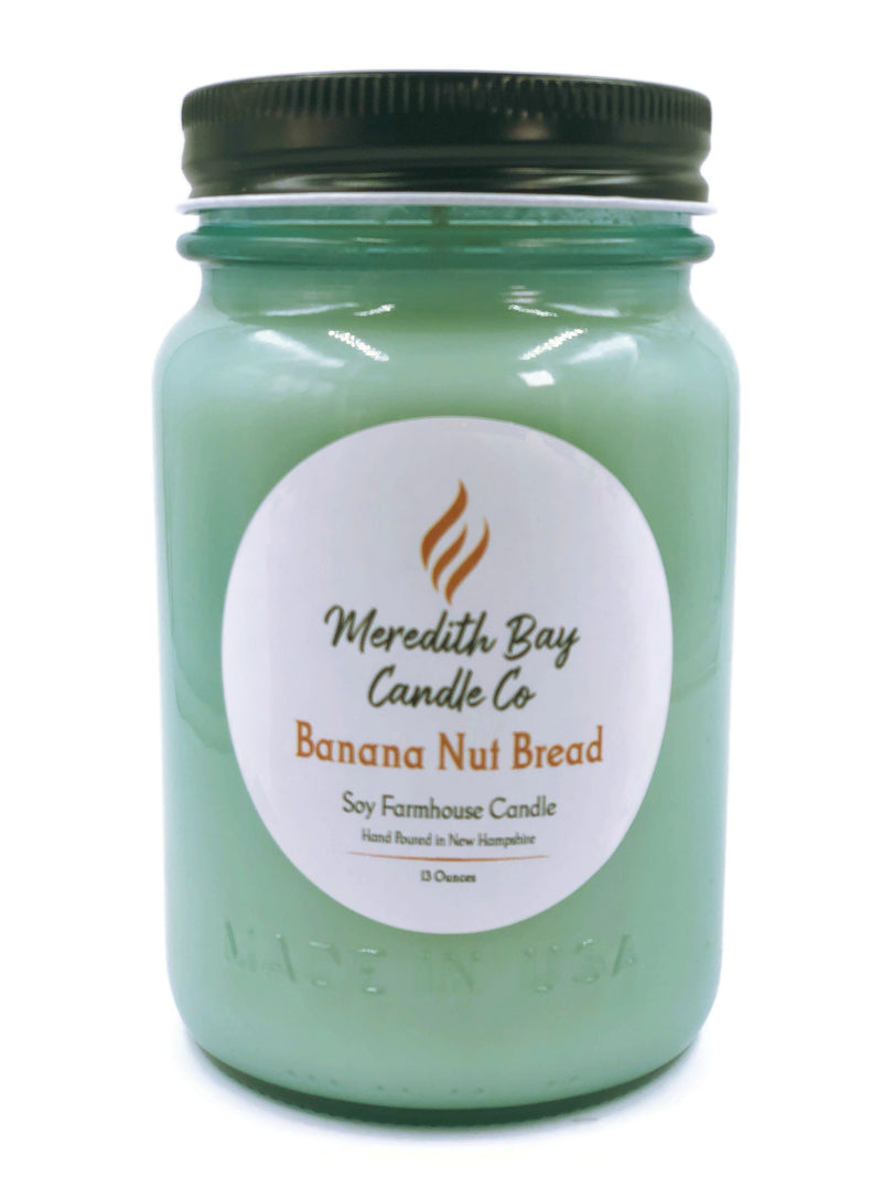 Banana Nut Bread Soy Candle Soy Candle Meredith Bay Candle Co 16 Oz Jar