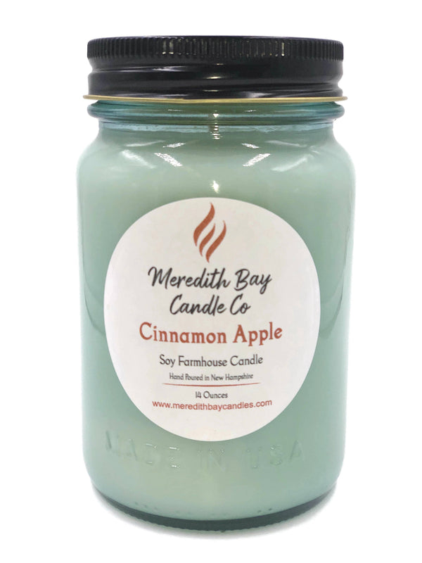 Cinnamon Apple Soy Candle Soy Candle Meredith Bay Candle Co 16 Oz Jar