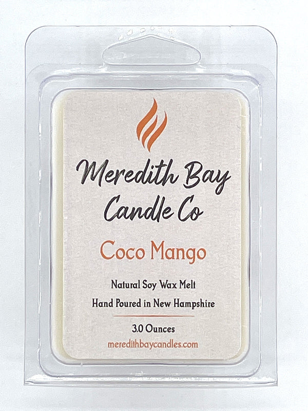 Coco Mango Wax Melt Wax Melt Meredith Bay Candle Co