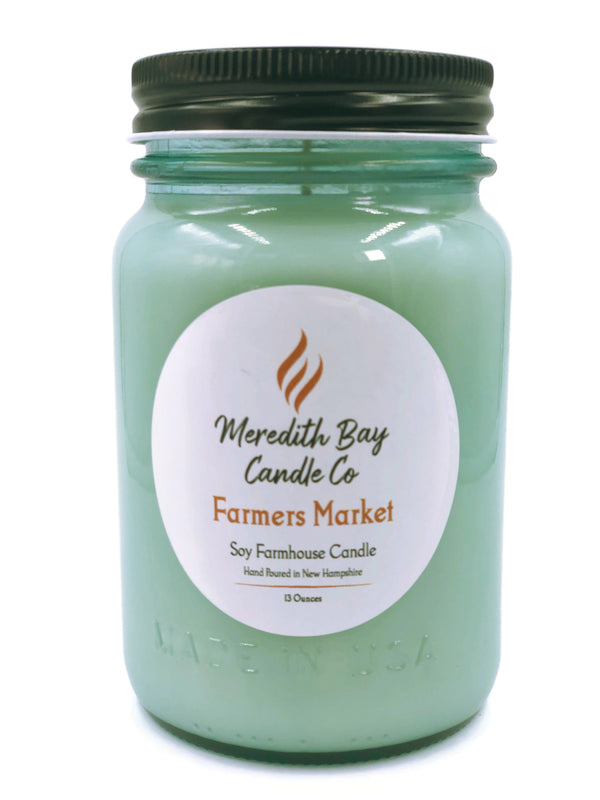 Farmers Market Soy Candle Soy Candle Meredith Bay Candle Co 16 Oz Jar