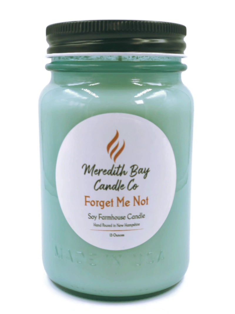 Forget Me Not Soy Candle Soy Candle Meredith Bay Candle Co 16 Oz Jar