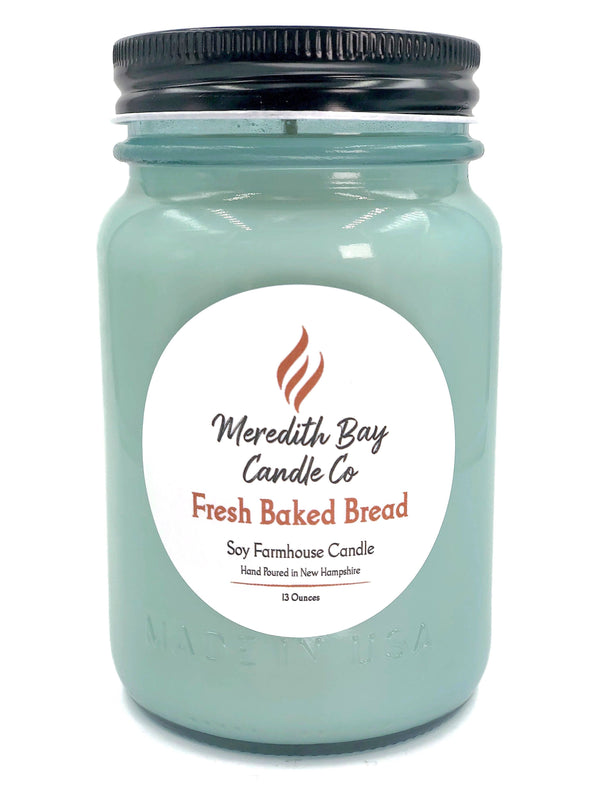 Fresh Baked Bread Soy Candle Soy Candle Meredith Bay Candle Co 16 Oz Jar