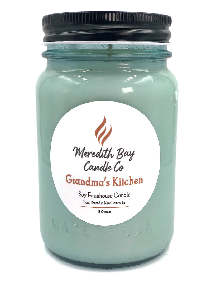 Grandma's Kitchen Soy Candle Soy Candle Meredith Bay Candle Co 16 Oz Jar