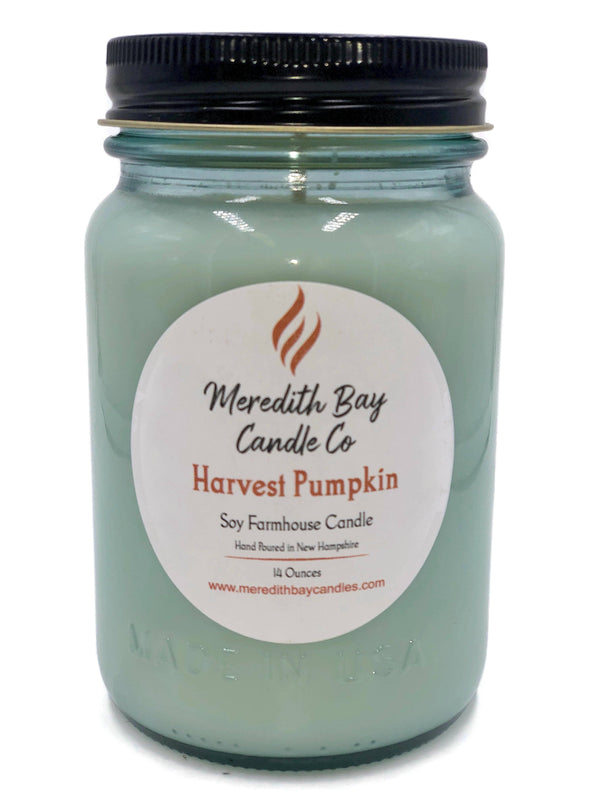 Harvest Pumpkin Soy Candle Soy Candle Meredith Bay Candle Co 16 Oz Jar