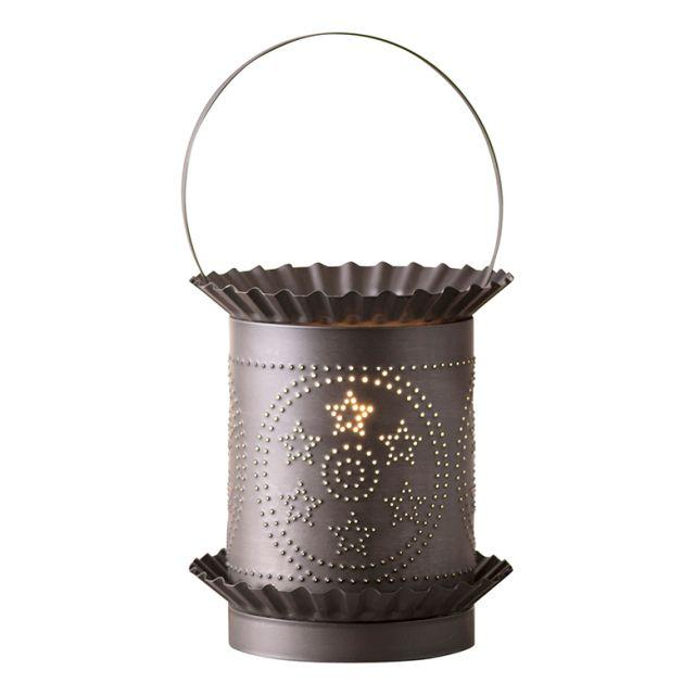 Jumbo Wax Warmer with Circle Star in Kettle Black Wax Warmer Irvins Tinware