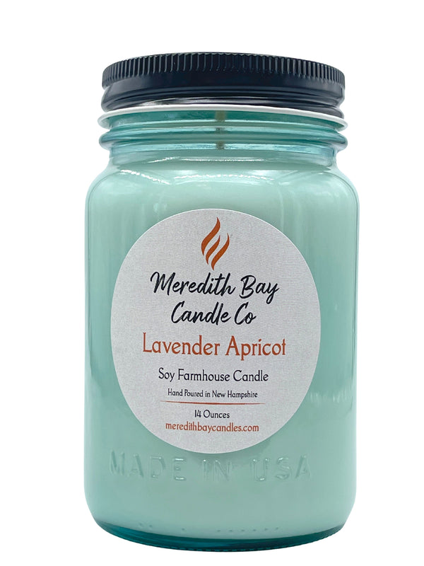 Lavender Apricot Soy Candle Soy Candle Meredith Bay Candle Co 16 Oz Jar