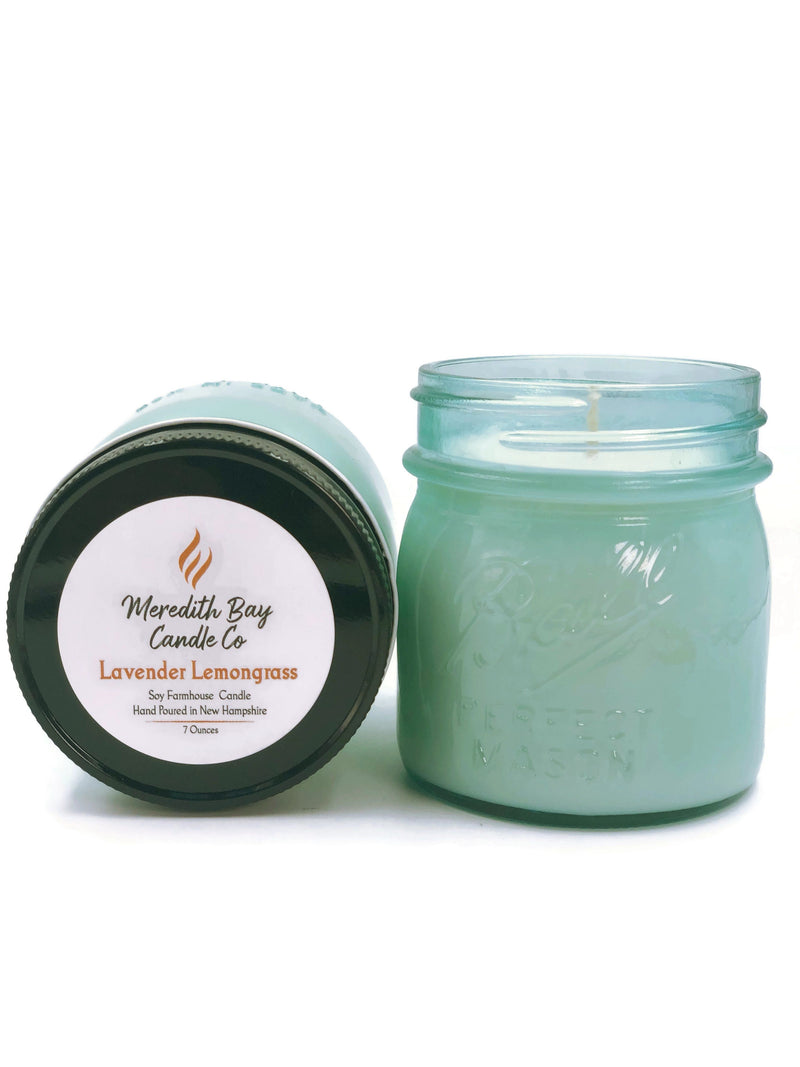 Lavender Lemongrass Soy Candle Soy Candle Meredith Bay Candle Co 8.0 Oz Jar