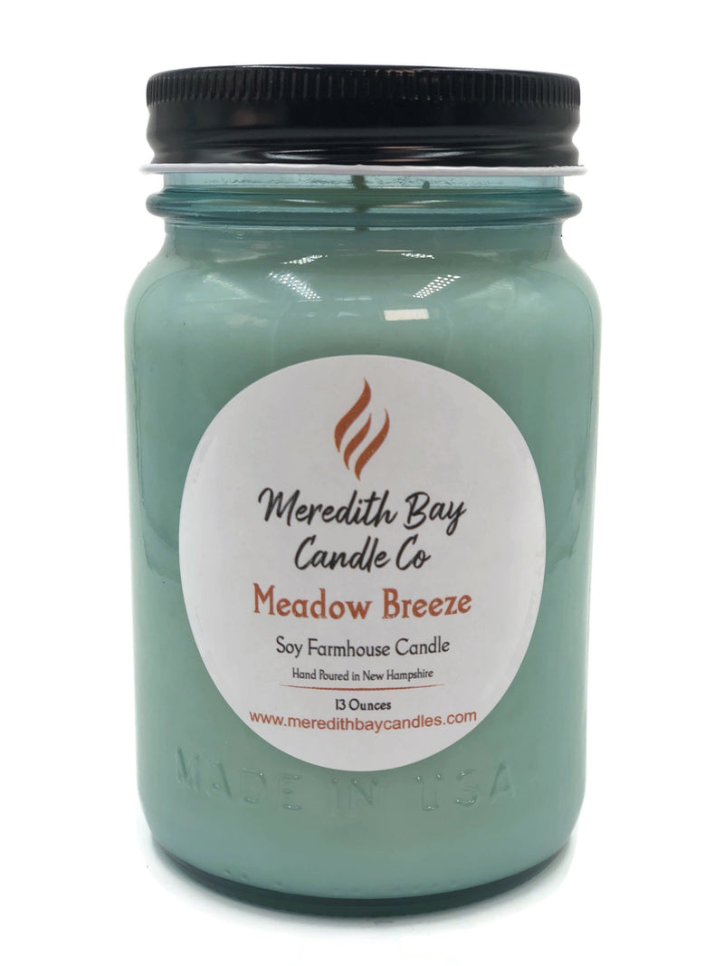 Meadow Breeze Soy Candle Soy Candle Meredith Bay Candle Co 16 Oz Jar