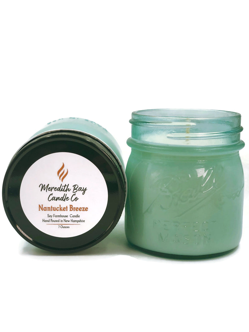 Nantucket Breeze Soy Candle Soy Candle Meredith Bay Candle Co 8.0 Oz Jar