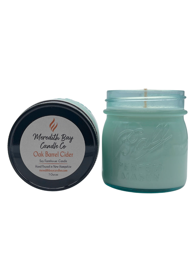 Oak Barrel Cider Soy Candle Soy Candle Meredith Bay Candle Co 8.0 Oz Jar